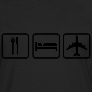 Eat Sleep Fly Tee shirts - T-shirt manches longues Premium Homme