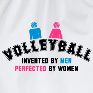 Volleyball: invented by men, perfected by women T-Shirts - Drawstring Bag