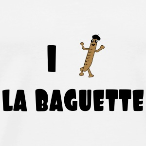 I love baguette Bottles & Mugs - Men's Premium T-Shirt