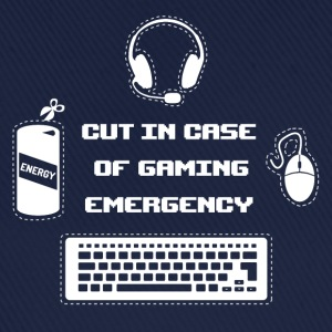 Cut in Case of Gaming I T-Shirts - Baseballkappe