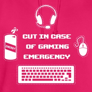 Cut in Case of Gaming I T-Shirts - Unisex Hoodie