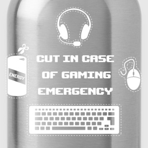 Cut in Case of Gaming I T-Shirts - Trinkflasche