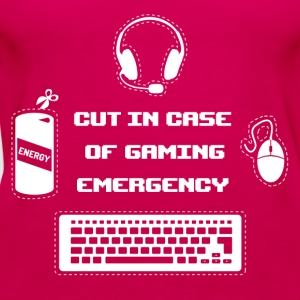 Cut in Case of Gaming I T-Shirts - Frauen Premium Tank Top