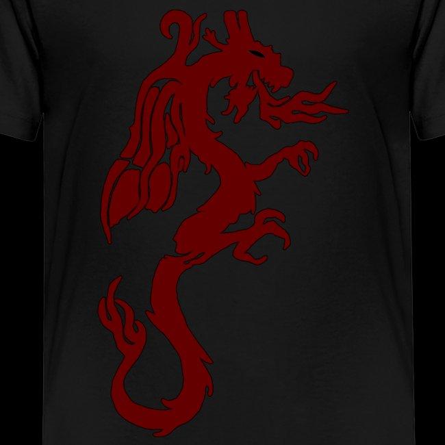 Tasse mit WF rotem Drachen