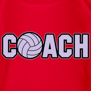 Volleyball Coach Shirts - Organic Short-sleeved Baby Bodysuit