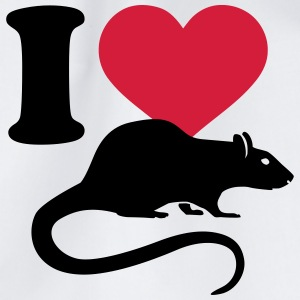 I love Ratte T-Shirts - Turnbeutel