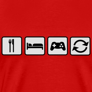 Eat Sleep Game Repeat Langarmshirts - Männer Premium T-Shirt