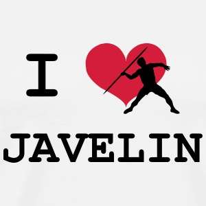 I Love Javelin Caps & Hats - Men's Premium T-Shirt