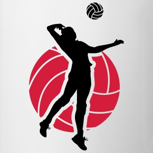 Volleyball Design Camisetas - Taza
