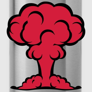 Atombombe Atompilz Explosion T-Shirts - Trinkflasche