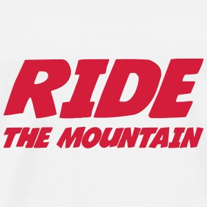 Ride the mountain ! Kasketter & Huer - Herre premium T-shirt