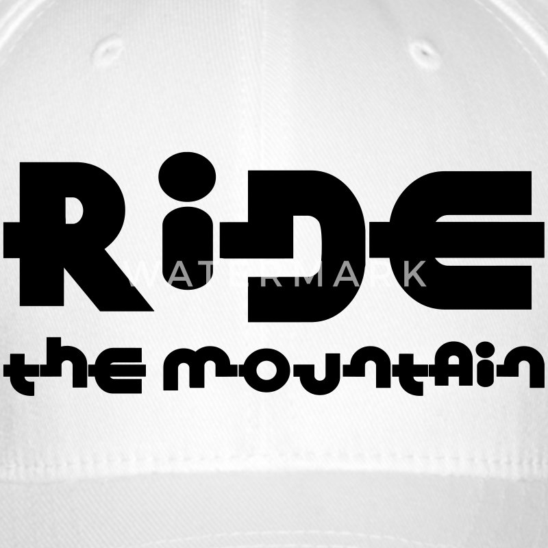 Ride the mountain ! Casquettes et bonnets - Casquette Flexfit