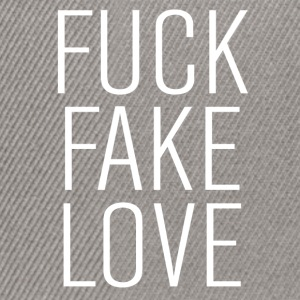 fuck fake love T-Shirts - Snapback Cap