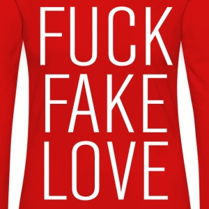 fuck fake love T-Shirts - Women's Premium Longsleeve Shirt