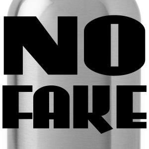 No Fake T-Shirts - Trinkflasche