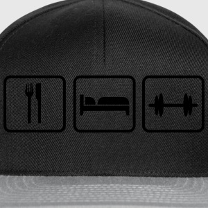 Eat Sleep Lift, Eat Sleep Gym, Eat Sleep Train Canotte - Snapback Cap
