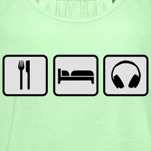 Eat Sleep Music T-skjorter - Singlet for kvinner fra Bella