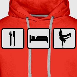 Eat Sleep Breakdance T-Shirts - Männer Premium Hoodie