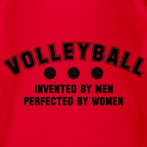 Volleyball: invented by men, perfected by women T-shirts - Kortærmet babybody, økologisk bomuld