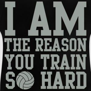 I am the reason you train so hard Langærmede shirts - Baby T-shirt