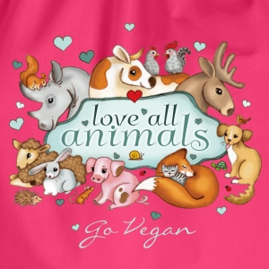 love all animals - go vegan - Gymtas