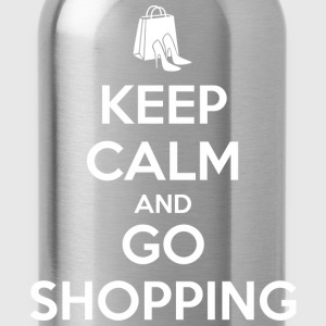Keep Calm and Go Shopping T-Shirts - Water Bottle