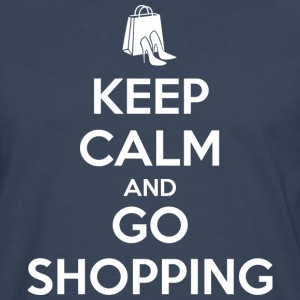 Keep Calm and Go Shopping Tee shirts - T-shirt manches longues Premium Homme