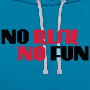 No risk, no fun T-Shirts - Kontrast-Hoodie