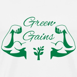 Green Gains Long Sleeve Shirts - Men's Premium T-Shirt