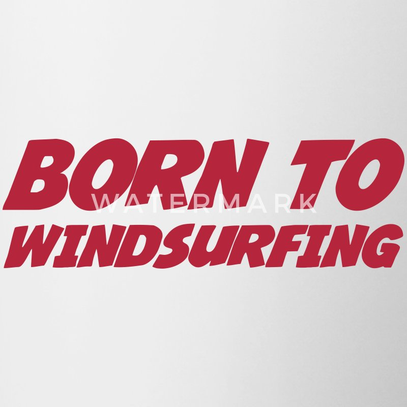 Born to Windsurfing Bottles & Mugs - Contrasting Mug