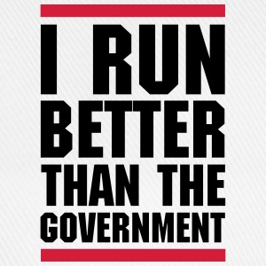 Run Better Than The Government  T-Shirts - Baseball Cap
