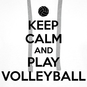 Keep calm and play volleyball Tee shirts - Sweat-shirt à capuche Premium pour hommes