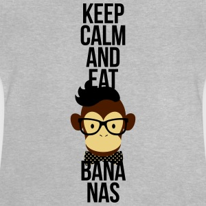 Nerd, Keep Calm and eat bananas. Affe, Schimpanse Shirts - Baby T-shirt