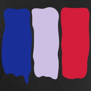 French flag runny paint - Men's Sweatshirt by Stanley & Stella