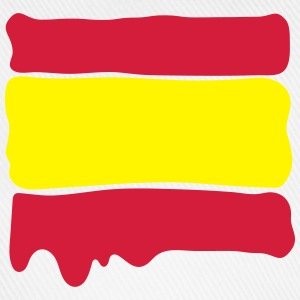 Spanish flag runny paint - Baseball Cap