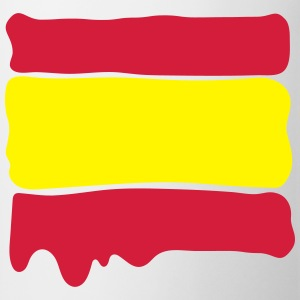 Spanish flag runny paint - Mug