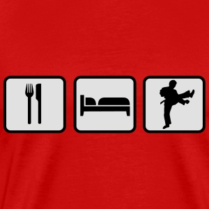 Eat Sleep Karate Tops - Männer Premium T-Shirt