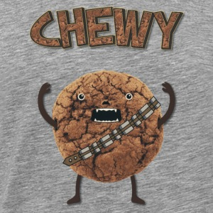 Funny Nerd Humor - Chewy Chocolate Cookie Wookiee Long sleeve shirts - Men's Premium T-Shirt