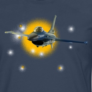 Jet F-16 Fighting Falcon T-skjorter - Premium langermet T-skjorte for menn