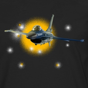 Jet F-16 Fighting Falcon Skjorter - Premium langermet T-skjorte for menn
