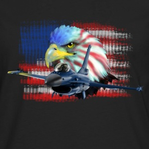 Jet F-16 Fighting Falcon T-shirts - Långärmad premium-T-shirt herr
