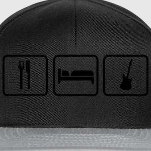 Eat Sleep Gitarre, Eat Sleep Rock Bags & Backpacks - Snapback Cap
