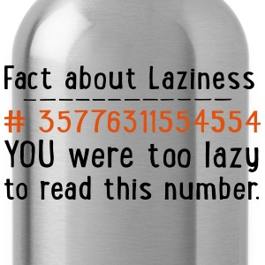 lazy T-Shirts - Trinkflasche