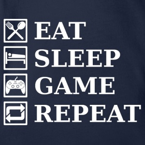 EAT SLEEP GAME REPEAT Shirts - Organic Short-sleeved Baby Bodysuit