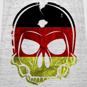 MMJ Germany Flag Skull / Skull Hoodies & Sweatshir - Women's Tank Top by Bella