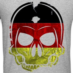 MMJ Germany Flag Skull / Skull Hoodies & Sweatshir - Men's Slim Fit T-Shirt