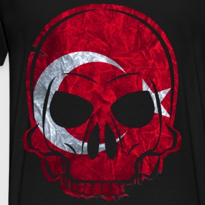 MMJ Turkey Flag Skull / Skull Hoodies & Sweatshirt - Men's Premium T-Shirt