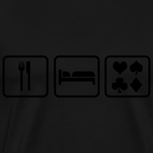 Eat Sleep Poker Gensere - Premium T-skjorte for menn