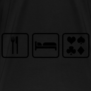 Eat Sleep Poker Tassen & rugzakken - Mannen Premium T-shirt