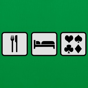 Eat Sleep Poker Felpe - Borsa di stoffa